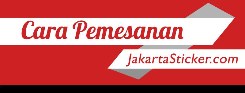 Cara Pesan Jakarta Sticker